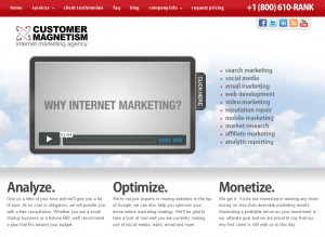 Customer Magnetism's fresh website design