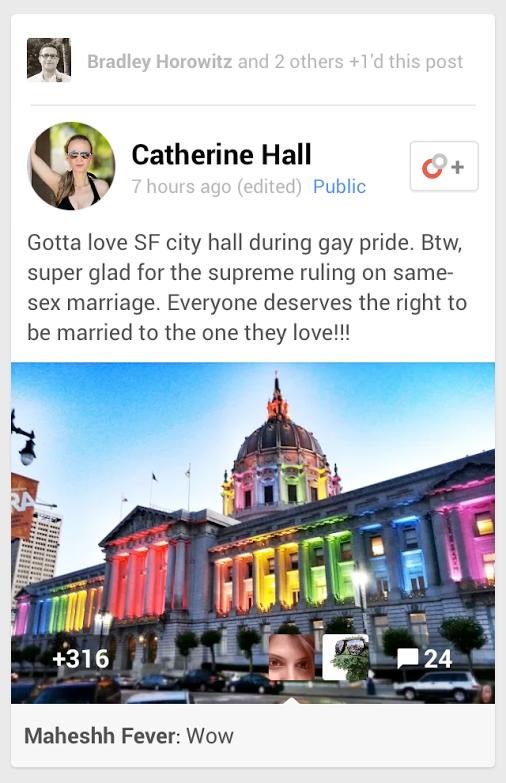 Google Plus Highlighted Post