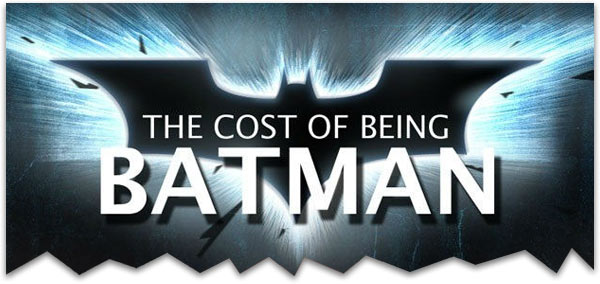 The cost of being Batman in real life