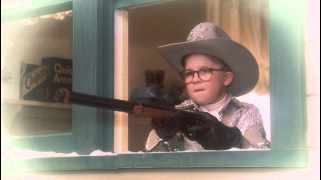 Ralphie shooting black bart
